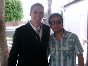 David Lugo con Alex Campos