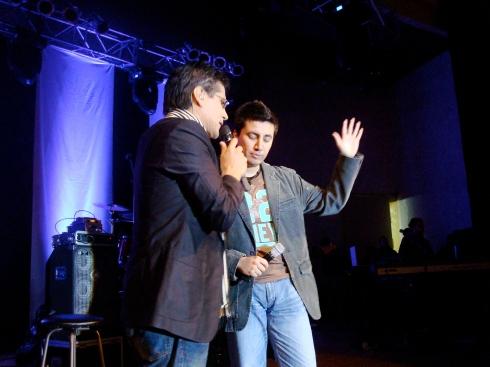Pablo Sierra con Jesús Adrian Romero