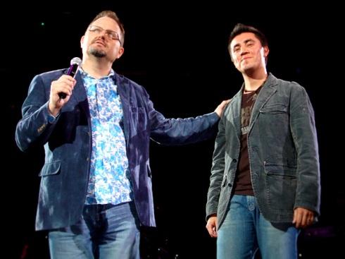 Pablo Sierra con Marcos Witt